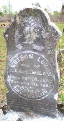 WILEY, WILSON LUKE - Scott County, Arkansas | WILSON LUKE WILEY - Arkansas Gravestone Photos