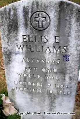WILLIAMS  (VETERAN WWI), ELLIS E - Scott County, Arkansas | ELLIS E WILLIAMS  (VETERAN WWI) - Arkansas Gravestone Photos