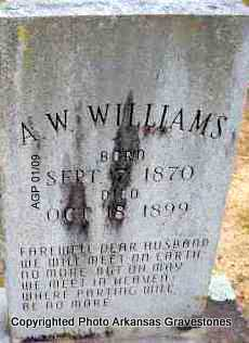 WILLIAMS, A W - Scott County, Arkansas | A W WILLIAMS - Arkansas Gravestone Photos