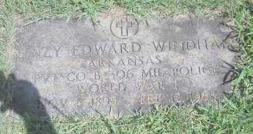 WINDHAM  (VETERAN WWII), LINZY EDWARD - Scott County, Arkansas | LINZY EDWARD WINDHAM  (VETERAN WWII) - Arkansas Gravestone Photos