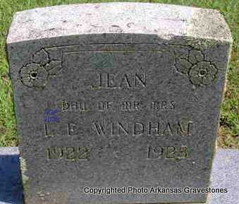 WINDHAM, JEAN - Scott County, Arkansas | JEAN WINDHAM - Arkansas Gravestone Photos