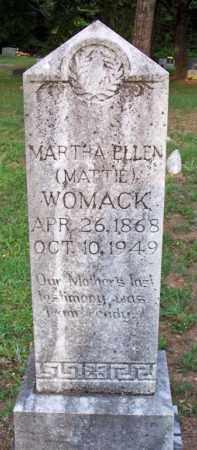 "WOMACK, MARTHA ELLEN ""MATTIE"" - Scott County, Arkansas | MARTHA ELLEN ""MATTIE"" WOMACK - Arkansas Gravestone Photos"
