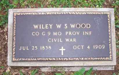 WOOD  (VETERAN UNION), WILEY W S - Scott County, Arkansas | WILEY W S WOOD  (VETERAN UNION) - Arkansas Gravestone Photos