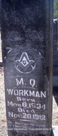 WORKMAN  (VETERAN CSA), MORRIS QUINCY - Scott County, Arkansas | MORRIS QUINCY WORKMAN  (VETERAN CSA) - Arkansas Gravestone Photos