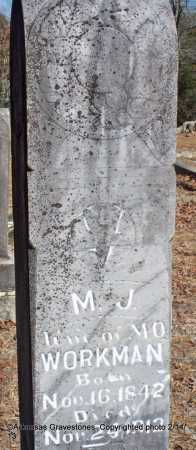 WORKMAN, M J - Scott County, Arkansas | M J WORKMAN - Arkansas Gravestone Photos