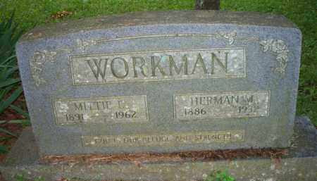 WORKMAN, MITTIE E - Scott County, Arkansas | MITTIE E WORKMAN - Arkansas Gravestone Photos