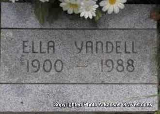 YANDELL, ELLA - Scott County, Arkansas | ELLA YANDELL - Arkansas Gravestone Photos