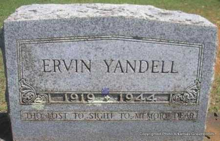 YANDELL, ERVIN - Scott County, Arkansas | ERVIN YANDELL - Arkansas Gravestone Photos