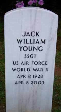 YOUNG  (VETERAN WWII), JACK WILLIAM - Scott County, Arkansas | JACK WILLIAM YOUNG  (VETERAN WWII) - Arkansas Gravestone Photos