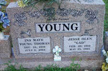YOUNG, INA MAYE - Scott County, Arkansas | INA MAYE YOUNG - Arkansas Gravestone Photos