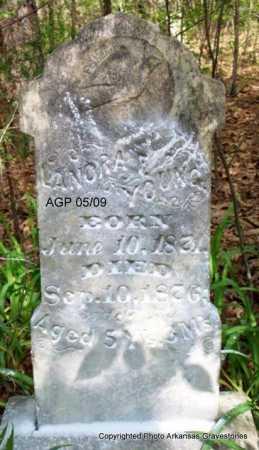 YOUNG, LANORA - Scott County, Arkansas | LANORA YOUNG - Arkansas Gravestone Photos