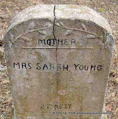 YOUNG, SARAH, MRS - Scott County, Arkansas | SARAH, MRS YOUNG - Arkansas Gravestone Photos