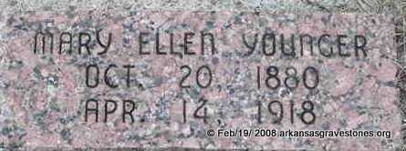 YOUNGER, MARY ELLEN - Scott County, Arkansas | MARY ELLEN YOUNGER - Arkansas Gravestone Photos