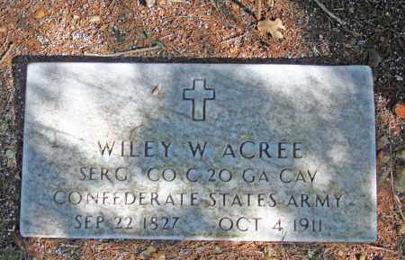 ACREE (VETERAN  CSA), WILEY W - Searcy County, Arkansas | WILEY W ACREE (VETERAN  CSA) - Arkansas Gravestone Photos