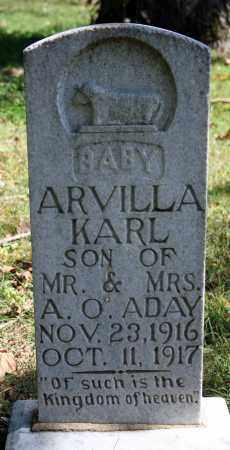 ADAY, ARVILLA KARL - Searcy County, Arkansas | ARVILLA KARL ADAY - Arkansas Gravestone Photos