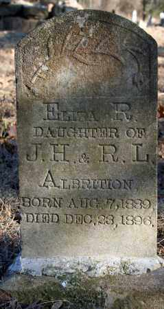 ALBRITTON, ELIZA R. - Searcy County, Arkansas | ELIZA R. ALBRITTON - Arkansas Gravestone Photos