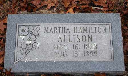 HAMILTON ALLISON, MARTHA - Searcy County, Arkansas | MARTHA HAMILTON ALLISON - Arkansas Gravestone Photos