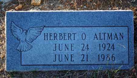ALTMAN, HERBERT O. - Searcy County, Arkansas | HERBERT O. ALTMAN - Arkansas Gravestone Photos