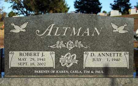 ALTMAN, ROBERT J. - Searcy County, Arkansas | ROBERT J. ALTMAN - Arkansas Gravestone Photos
