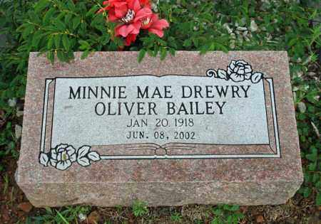 DREWRY BAILEY, MINNIE MAE - Searcy County, Arkansas | MINNIE MAE DREWRY BAILEY - Arkansas Gravestone Photos