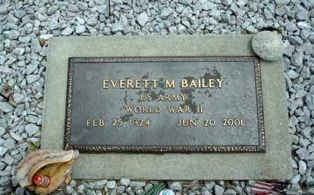 BAILEY (VETERAN WWII), EVERETT M - Searcy County, Arkansas | EVERETT M BAILEY (VETERAN WWII) - Arkansas Gravestone Photos