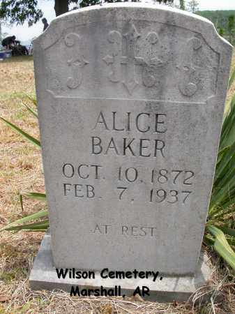 BAKER, ALICE - Searcy County, Arkansas | ALICE BAKER - Arkansas Gravestone Photos