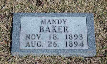 BAKER, MANDY - Searcy County, Arkansas | MANDY BAKER - Arkansas Gravestone Photos