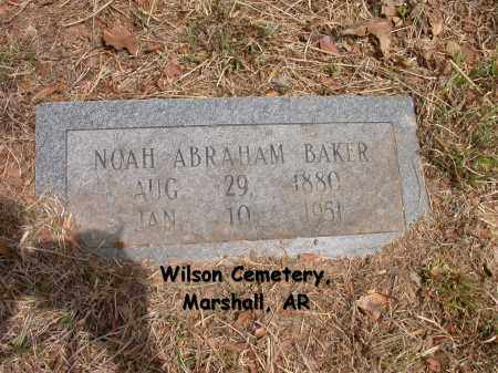 BAKER, NOAH ABRAHAM - Searcy County, Arkansas | NOAH ABRAHAM BAKER - Arkansas Gravestone Photos