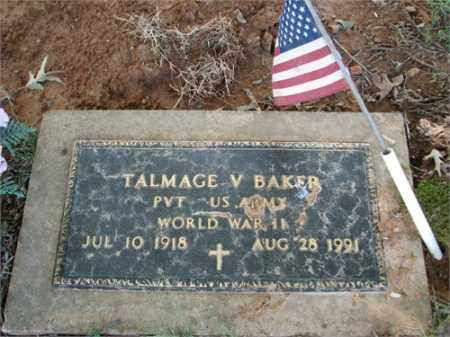 BAKER (VETERAN WWII), TALMAGE V - Searcy County, Arkansas | TALMAGE V BAKER (VETERAN WWII) - Arkansas Gravestone Photos