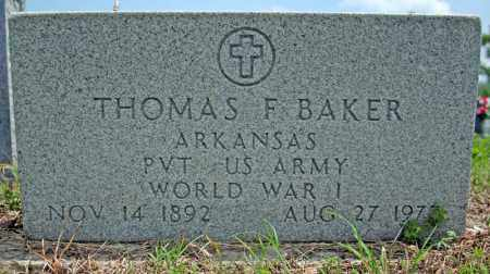 BAKER (VETERAN WWI), THOMAS F - Searcy County, Arkansas | THOMAS F BAKER (VETERAN WWI) - Arkansas Gravestone Photos