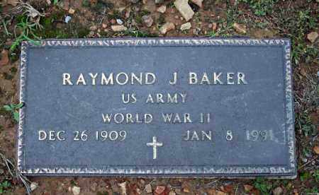 BAKER (VETERAN WWII), RAYMOND J - Searcy County, Arkansas | RAYMOND J BAKER (VETERAN WWII) - Arkansas Gravestone Photos