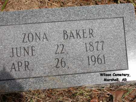 BAKER, ZONA - Searcy County, Arkansas | ZONA BAKER - Arkansas Gravestone Photos