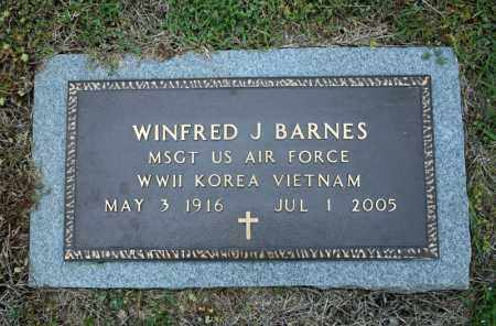 BARNES (VETERAN 3 WARS), WINFRED J - Searcy County, Arkansas | WINFRED J BARNES (VETERAN 3 WARS) - Arkansas Gravestone Photos