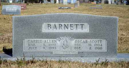 ALLEN BARNETT, CARRIE - Searcy County, Arkansas | CARRIE ALLEN BARNETT - Arkansas Gravestone Photos