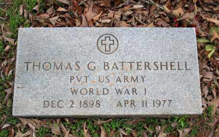 BATTERSHELL (VETERAN WWI), THOMAS G - Searcy County, Arkansas | THOMAS G BATTERSHELL (VETERAN WWI) - Arkansas Gravestone Photos
