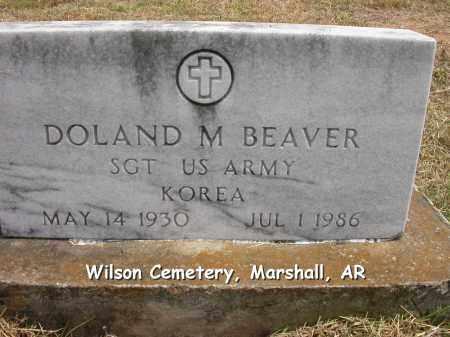 BEAVER (VETERAN KOR), DOLAND MELVIN - Searcy County, Arkansas | DOLAND MELVIN BEAVER (VETERAN KOR) - Arkansas Gravestone Photos