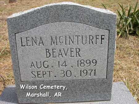 MCINTURFF BEAVER, LENA GLADYS - Searcy County, Arkansas | LENA GLADYS MCINTURFF BEAVER - Arkansas Gravestone Photos