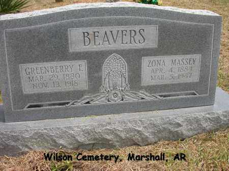 BEAVERS, GREENBERRY FRANKLIN - Searcy County, Arkansas | GREENBERRY FRANKLIN BEAVERS - Arkansas Gravestone Photos