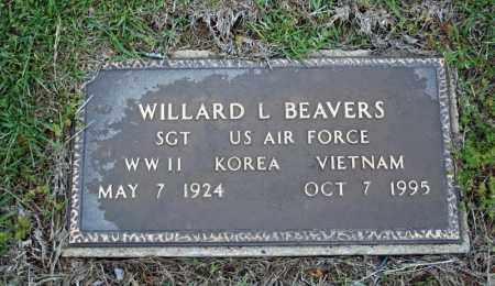 BEAVERS (VETERAN 3 WARS), WILLARD L - Searcy County, Arkansas   WILLARD L BEAVERS (VETERAN 3 WARS) - Arkansas Gravestone Photos