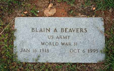 BEAVERS (VETERAN WWII), BLAIN A - Searcy County, Arkansas | BLAIN A BEAVERS (VETERAN WWII) - Arkansas Gravestone Photos