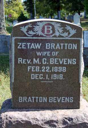 BRATTON BEVENS, ZETAW - Searcy County, Arkansas | ZETAW BRATTON BEVENS - Arkansas Gravestone Photos