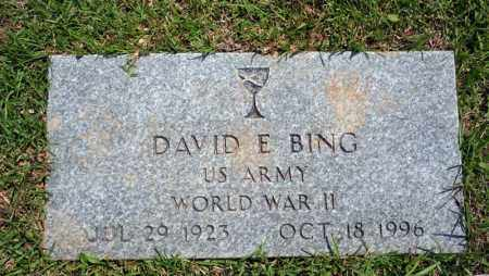 BING (VETERAN WWII), DAVID E - Searcy County, Arkansas | DAVID E BING (VETERAN WWII) - Arkansas Gravestone Photos