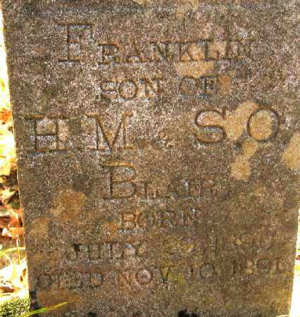 BLAIR, FRANKLIN - Searcy County, Arkansas | FRANKLIN BLAIR - Arkansas Gravestone Photos