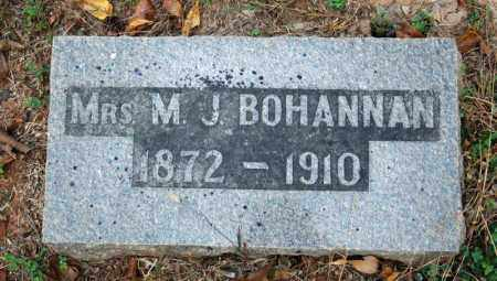 BOHANNAN, M.J. - Searcy County, Arkansas | M.J. BOHANNAN - Arkansas Gravestone Photos