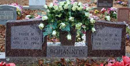 BOHANNON, KENNETH W. - Searcy County, Arkansas | KENNETH W. BOHANNON - Arkansas Gravestone Photos