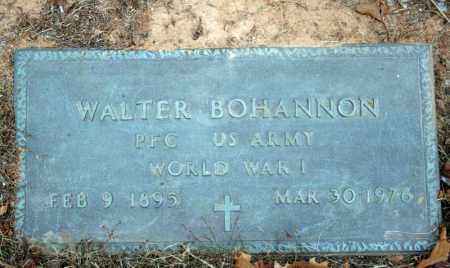 BOHANNON (VETERAN WWI), WALTER - Searcy County, Arkansas | WALTER BOHANNON (VETERAN WWI) - Arkansas Gravestone Photos
