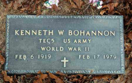 BOHANNON (VETERAN WWII), KENNETH W - Searcy County, Arkansas | KENNETH W BOHANNON (VETERAN WWII) - Arkansas Gravestone Photos