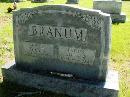 BRANUM, JOHN W. - Searcy County, Arkansas | JOHN W. BRANUM - Arkansas Gravestone Photos