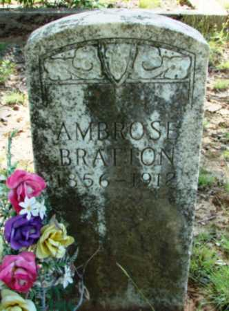 BRATTON, AMBROSE - Searcy County, Arkansas | AMBROSE BRATTON - Arkansas Gravestone Photos