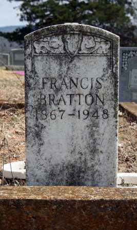 BRATTON, FRANCIS B - Searcy County, Arkansas | FRANCIS B BRATTON - Arkansas Gravestone Photos